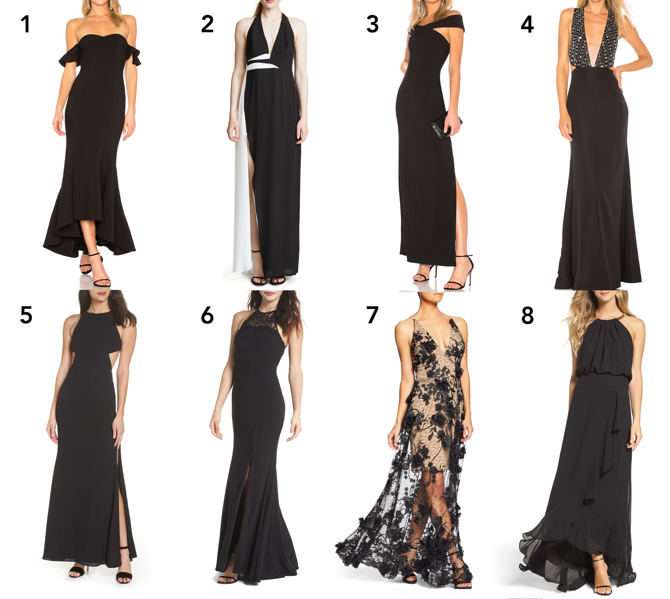 8 Black Gowns Perfect For A Tie Wedding Or Event